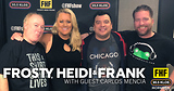 Frosty, Heidi and Frank with guest Carlos Mencia