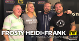 Frosty, Heidi and Frank with guest Chad Daniels