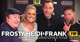 Frosty, Heidi and Frank with guest Christopher Titus