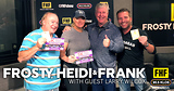 Frosty, Heidi and Frank with guest Larry Wilcox